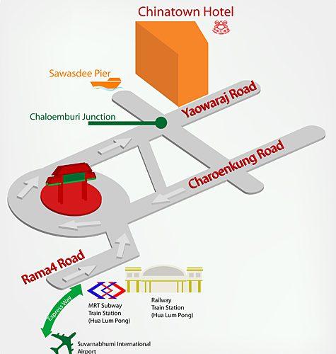 China Town Hotel Bangkok 地图