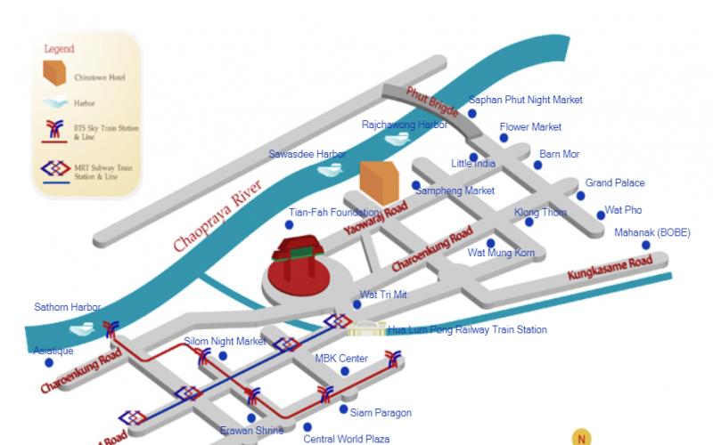 China Town Hotel Bangkok แผนที่